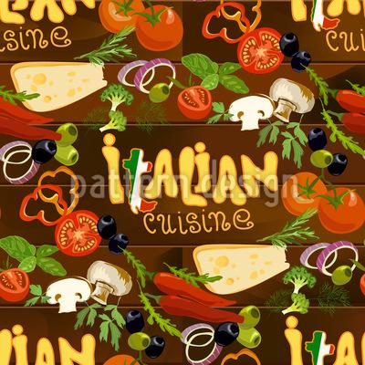 Italienische Küche Vektor Ornament