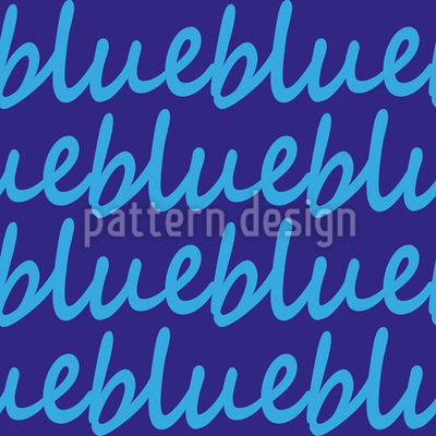 Blau Beruhigt Nahtloses Muster