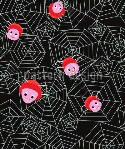 Freundliche Spinnen Muster Design