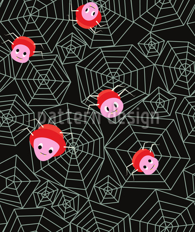 Friendly Spiders Pattern Design