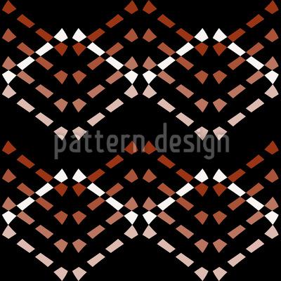 Mosaikartiges Zickzack Musterdesign