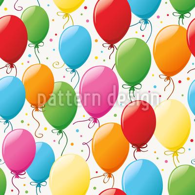 Festa Balão Diversão Design de padrão vetorial sem costura