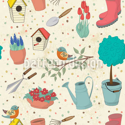 Garden Tools Vector Ornament