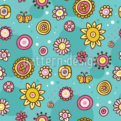 Frühlings Freude Rapportiertes Design
