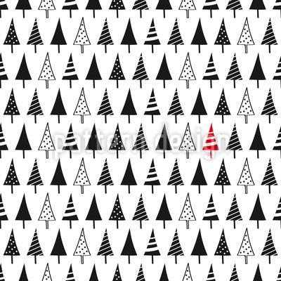 Wähle Einen Weihnachtsbaum Rapportmuster