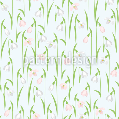 Snowdrops In The Meadow Pattern Design