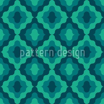 Wavy Ogee Seamless Vector Pattern Design