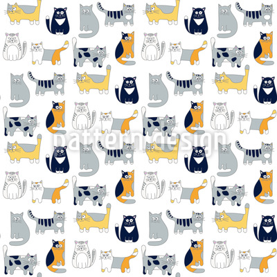 Cat Friends Pattern Design