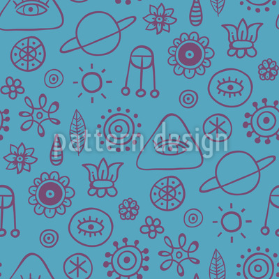 Space Dreams Vector Pattern