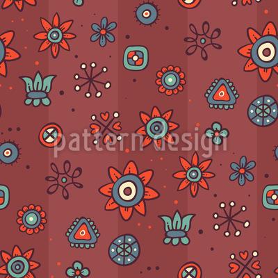 Nette Blumen Muster Design