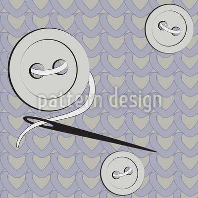 Needle And Thread Vector Ornament