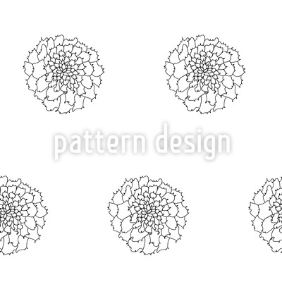 Filigree Flowers Seamless Vector Pattern Design