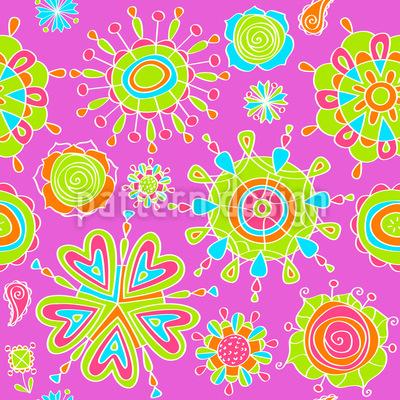 Stilisierte Blumen Muster Design