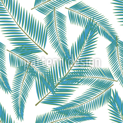 Clean Leaves Vector Pattern