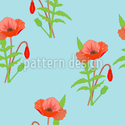 Beautiful poppies Repeat Pattern