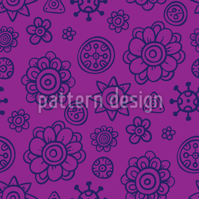 Candy Flowers Pattern Design