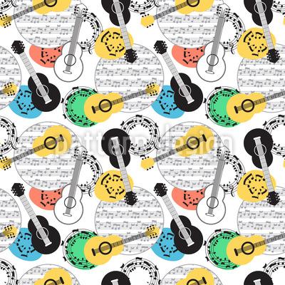Guitar Love Pattern Design