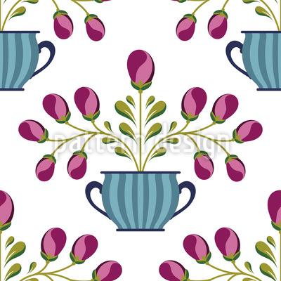 Blumentopf Musterdesign