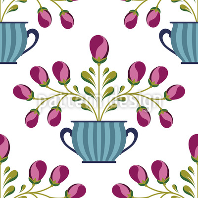 Flower Pot Pattern Design