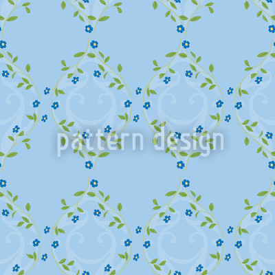 Forget Me Not Blue Repeat Pattern