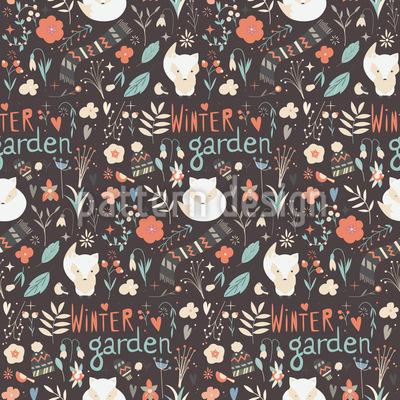 Winter Garden Vector Pattern