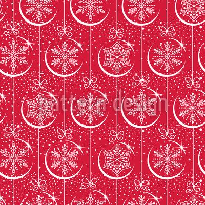 Weihnachtskugeln Mit Schneeflocken Vektor Design