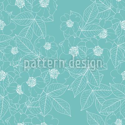 Wild Rose In Bloom Pattern Design