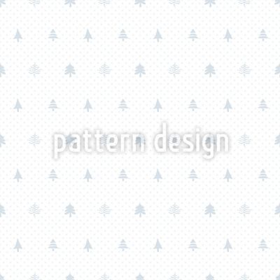 Christmas Tree and Dots Vector Pattern