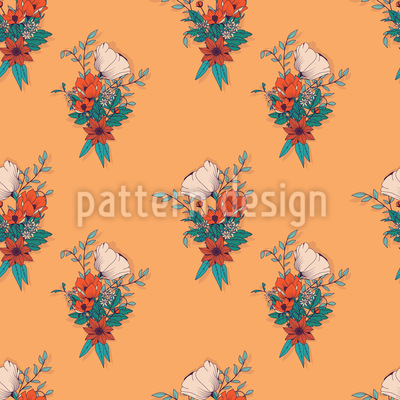 Botanical Flower Bouquet Repeating Pattern