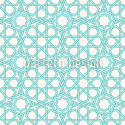 Islamic Star Outlines Design Pattern