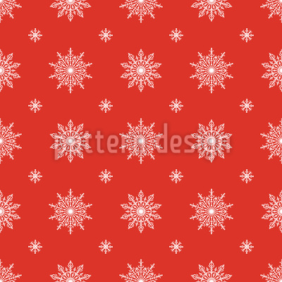 Delicate Snowflake Repeating Pattern