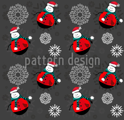 Snowman with Snowflakes Design Pattern