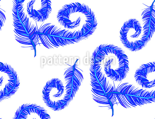 Fantasy Feathers Vector Ornament