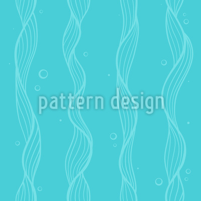 Sea Weed Seamless Vector Pattern