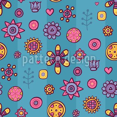 Florale Streifen Vektor Muster