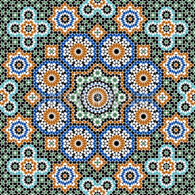 Moroccan Splendor Seamless Vector Pattern