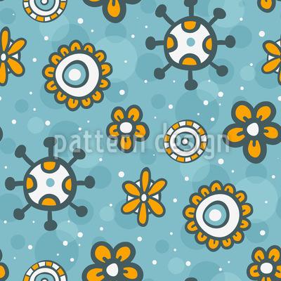 Himmel Voll Blumen Doodles Vektor Ornament
