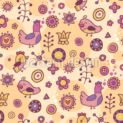A Paradise For Birds Seamless Pattern