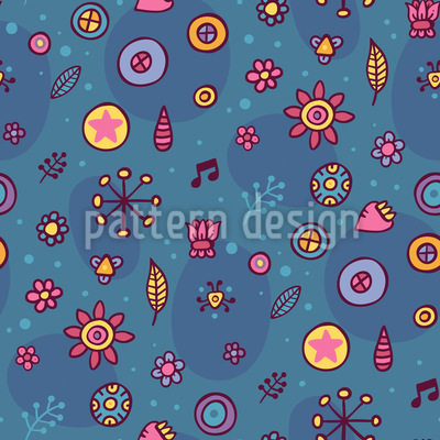 Pool Of Flowers Seamless Vector Pattern