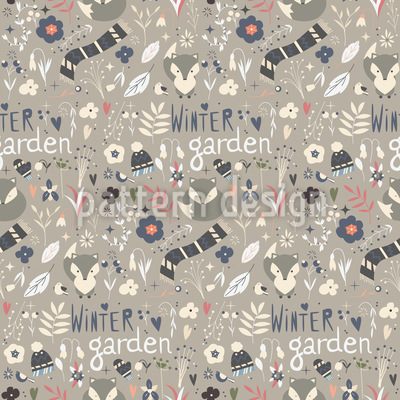 Arctic Fox Vector Pattern