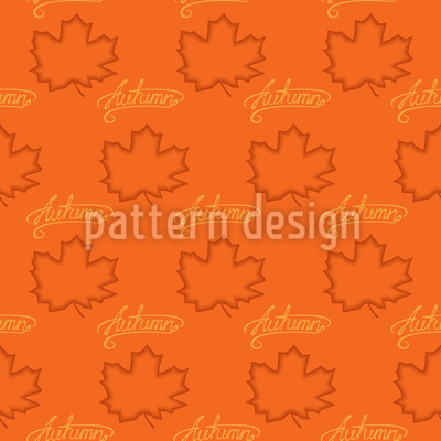 Maple Leaves in Autumn Design Pattern