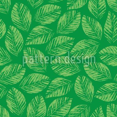 Handgedruckte Blätter Muster Design