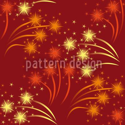 Rotes Feuerwerk Vektor Ornament