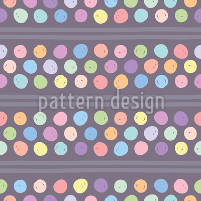 Handgezeichnete Punkte und Streifen Nahtloses Vektor Muster