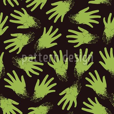 Gruselige Zombiehände Rapportmuster