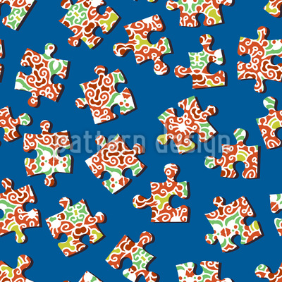 Find The Puzzle Vector Pattern
