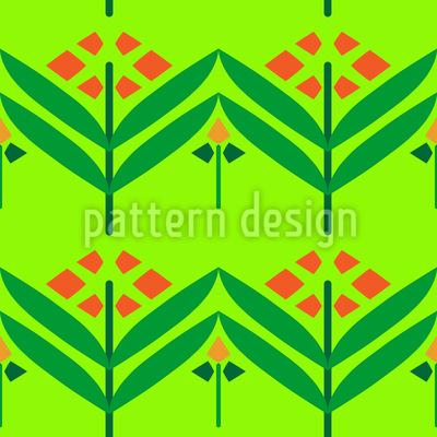Straight Flowers Pattern Design