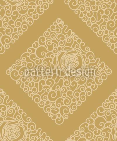 Belezas Adormecidas Ouro Design de padrão vetorial sem costura