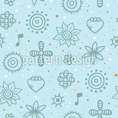 Abstract Friends Seamless Vector Pattern