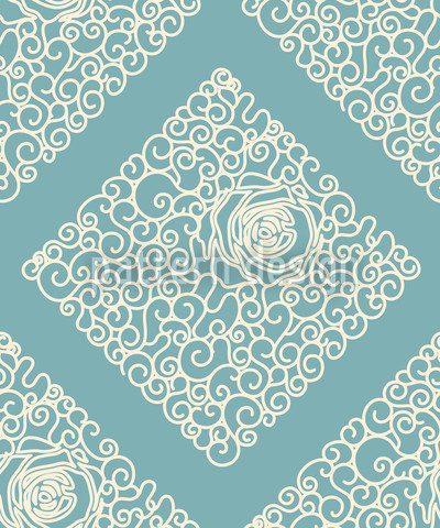 Sleeping Beauties Mint Seamless Vector Pattern Design